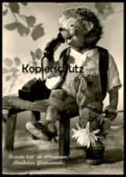 ÄLTERE POSTKARTE MECKI BEINAHE HÄTT' ICH ES VERGESSEN TELEFON Telephone Geburtstag AK Ansichtskarte Cpa Postcard - Mecki
