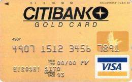 VISA - BANQUE - CB - CREDIT CARD - CARTE De CREDIT  - Télécarte Japon - Werbung
