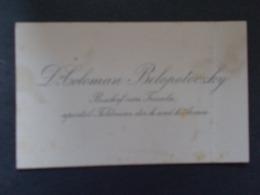 CARTE DE VISITE - Dr COLOMAN  BELOPOTOCZKY Biscohp Von Tricala Aposto Feldvicar Der H Und H Armée ( Fin 1800) - Cartes De Visite