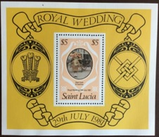 St Lucia 1981 Royal Wedding Minisheet MNH - St.Lucia (1979-...)