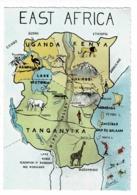 Contour Illustré Par Laura - East Africa (Uganda, Kenya, Tanganyika) Pas Circulé - Landkaarten