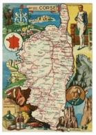 Carte Illustrée J P Pinchon - Blondel Rougery - Corse, Blason, Texte Historique Au Verso - Pas Circulé, Mat - Landkarten