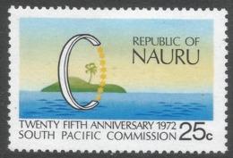 Nauru. 1972 25th Anniv Of South Pacific Commission. 25c MH. SG 97 - Nauru