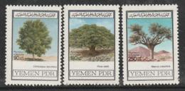 YEMEN Du SUD - N°251/3 ** (1981) Arbres - Yemen