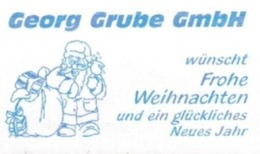 EMA FREISTEMPEL METER Joyeux Noel Season Greetings Christmas GERMANY FRANKIT SANTA CLAUS WEIHNACHTSMANN - Noël