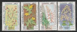 YEMEN Du SUD - N°259/62 ** (1981) Fleurs - Yemen