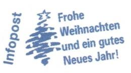 EMA FREISTEMPEL METER Joyeux Noel Season Greetings Christmas GERMANY FRANKIT CHRISTMAS TREE - Noël