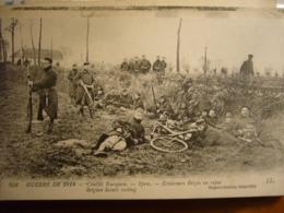 BELGIQUE      éclaireurs Au Repos - Oorlog 1914-18