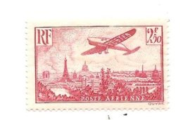 Timbre Poste Aérienne De 1939 Valeur 2,50 F De La République Française De Non Oblitéré - Poste Aérienne