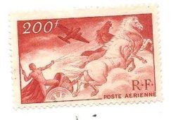Timbre Poste Aérienne Valeur 200 F De La République Française De Non Oblitéré - Poste Aérienne