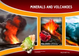 MALDIVES 2019 - Minerals And Volcanoes S/S Official Issue - Minerales