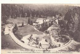 25 // Environs De PONTARLIER    Ravins Et Usines De La Source Bleue - Pontarlier