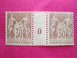 Sage Numero  80  Paire Millesime 0   . Sans Charnieres .  Cote 240 Euros - 1876-1898 Sage (Type II)