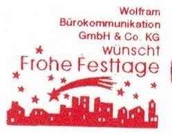 EMA FREISTEMPEL METER Joyeux Noel Season Greetings Christmas GERMANY - Kerstmis