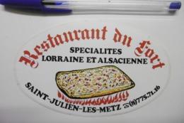 Autocollant Stickers - Restaurant Du Fort à SAINT-JULIEN-LES-METZ 57 MOSELLE - Autocollants