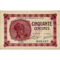 75 - PARIS - CHAMBRE DE COMMERCE - 50 CENTIMES 1920 - TTB - 1871-1952 Antiguos Francos Circulantes En El XX Siglo