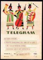 POLAND 1963 TELEGRAM FOLK BAND STREET ORCHESTRA MUSIC CULTURE TRADITIONS USED LX3 TÉLÉGRAMME TELEGRAMM TELEGRAMA - Lettres & Documents