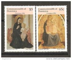 DOMINICA - 1996 BEATO ANGELICO Madonna Delle Ombre E Maestà 2v. (convento Di San Marco, Firenze) Nuovo** MNH - Madones