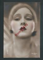 Portrait De Femme Avec Turban. Photo Colorisée à La Main. N°132  Photographe J. Mandel.   Année 1930. 2 Scan - Illustrateurs & Photographes
