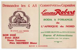 - BUVARD Limone ROBERT - SODA à L'ORANGE De L'AFRIQUE Du NORD - - Limonades