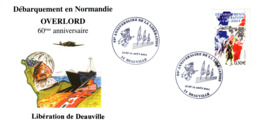 Deauville 60 Anniversaire De La Liberation - Commemorative Postmarks