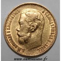 RUSSIE - Y 62 - 5 ROUBLES 1899 ФЗ - Saint-Pétersbourg - NICHOLAS II - OR - TTB - Russie