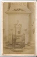 Photo Ancienne - Cabinet  - Fécamp -  Intérieur De L'abbaye - Le Reliquaire Du Précieux Sang - Automobiles