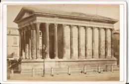 Photo Ancienne - Cabinet  - Nimes - Maison Carrée - Monuments  Romains - Automobiles