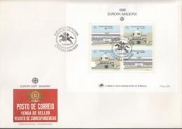 PORTUGAL MADEIRA Block 11 FDC, EUROPA CEPT 1990, Postalische Einrichtungen - Europa-CEPT