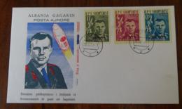 &164& ALBANIA  MICHEL 647/649 IN FDC. SPACE, GAGARIN. - Albanie