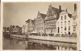 Photo Ancienne - Fin 19ème - Gand - Maison Des Bateliers -  Beau Format - Automobiles
