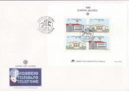 PORTUGAL AZOREN Block 11 FDC, EUROPA CEPT 1990, Postalische Einrichtungen - Europa-CEPT