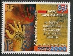 Polynésie Française - Polynesien - Polynesia 2000 Y&T N°614 - Michel N°815 *** - 85f Festival Du Tatouage - Polynésie Française