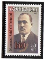 Azerbaijan 2012 . Writer M.S.Ordubadi - 140th Ann. 1v: 50qep. Michel # 945 - Azerbaiján