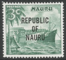 Nauru. 1968 Republic O/P. 3c MH. SG 82 - Nauru