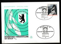 B 846) Berlin 1971 Mi# 391 + SSt Internat. Funkausstellung Auf Sonderkarte - Wissenschaften