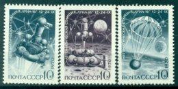 """URSS 1970 - Y & T N. 3687/89 - Lancement De """"Luna 16"""" - 1923-1991 USSR"""