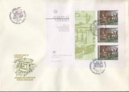 PORTUGAL MADEIRA  Block 3 FDC, EUROPA CEPT 1982, Historische Ereignisse - Europa-CEPT