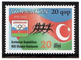 Azerbaijan 2012 . Azerbaijan NOC. 1v: 20q.  Michel # 963 - Azerbaiján
