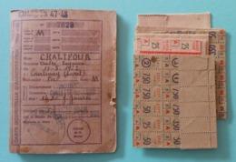 Carte Individuelle D'alimentation Avec Planches De Coupons - Protagoniste Installé à Chalette Sur Loing Dans Le Loiret - Documents
