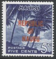 Nauru. 1968 Republic O/P. 5c MH. SG 84 - Nauru