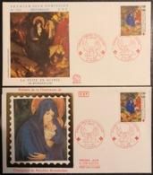 France - FDC - Premier Jour - Lot De 2 FDC - Thématique Croix Rouge - 1987 - FDC