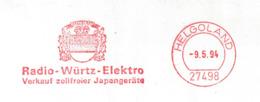B 842) AFSt Helgoland 1994 Radio-Würtz-Elektro,Händler Für Zollfreie Japangeräte - Wissenschaften