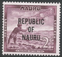Nauru. 1968 Republic O/P. 2c MH. SG 81 - Nauru