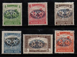 N101.-. HUNGARY - 1919 - SC#: 2N52 // 2N58 - FIRST DEBRECEN ISSUE. MH -SOME INVERTED-SOLD AS IS - Debreczin