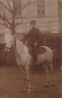 Très Rare Cpa-photo Zouave Avec Croix De Guerre  Sur Son Cheval En Bulgarie à Varna - 1914-18