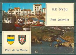 85 - ILE D'YEU - PORT JOINVILLE - PORT DE LA MEULE  - MULTIVUES - Ile D'Yeu