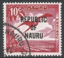 Nauru. 1968 Republic O/P. 10c Used. SG 87 - Nauru