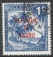 Nauru. 1968 Republic O/P. 1c Used. SG 80 - Nauru