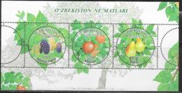 UZBEKISTAN, 2019, MNH, FRUIT, PEARS, BERRIES, SHEETLET - Fruits